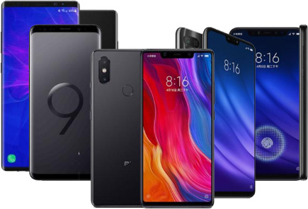 Смартфони Xiaomi Samsung