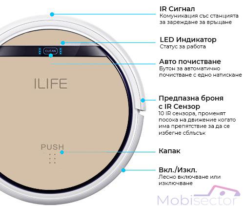 ILIFE V5s Pro Прахосмукачка робот Функции